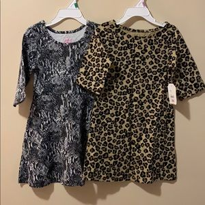 2 NWT Faded Glory dresses girls size 4/5